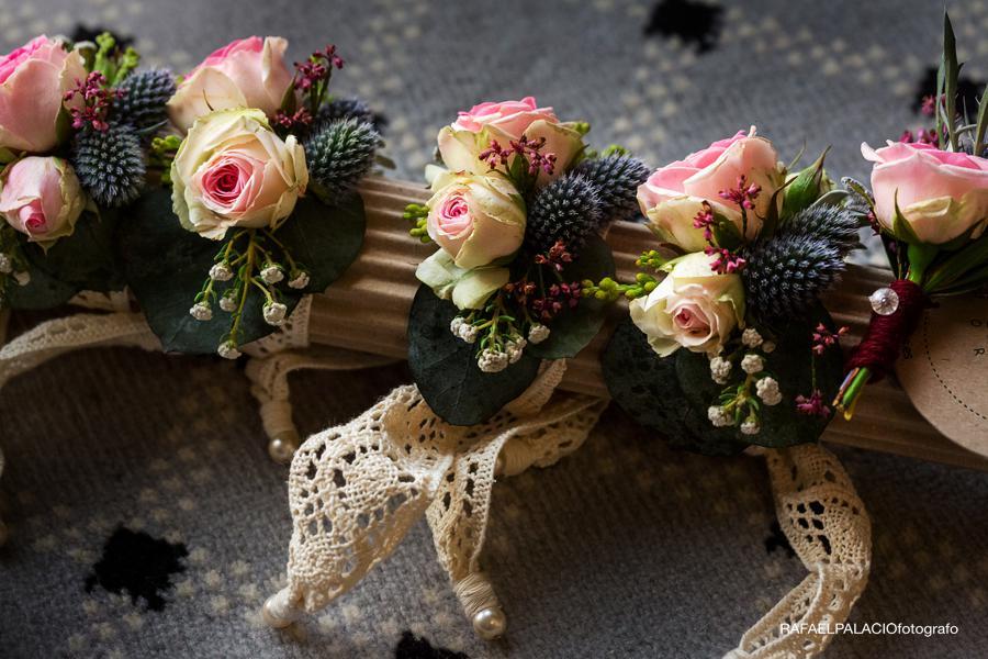 pulsera flor damas boda