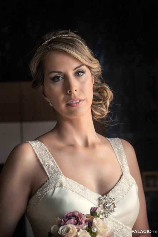 retrato novia boda civil en Zaragoza